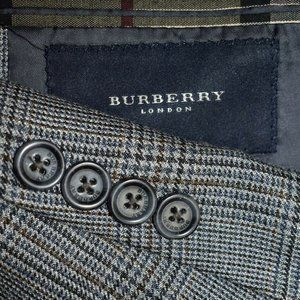 42R Burberry London SILK Blue Gray sport coat